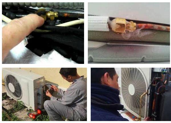 Fuga de gas en el aire acondicionado for Cargar aire acondicionado casa